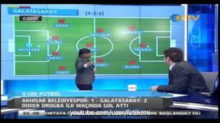 %100 Futbol Akhisar Belediyespor 1 – 2 Galatasaray 15 Şubat 2013 Rıdvan Dilmen Yorumu