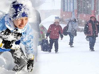 14 Ocak 2013 Samsunda Okullara Kar Tatili