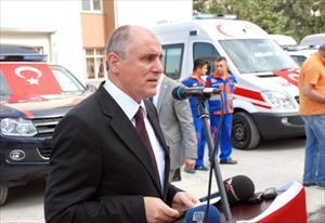 Ambulanslar İlçelere Teslim Edildi