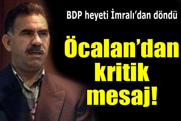 BDP Heyeti Öcalanın Mesajını Açıkladı