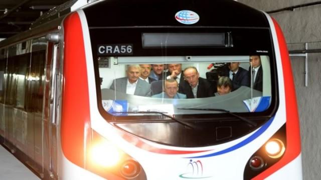 Başbakan Erdoğan Marmarayda Test Sürüşü Yaptı