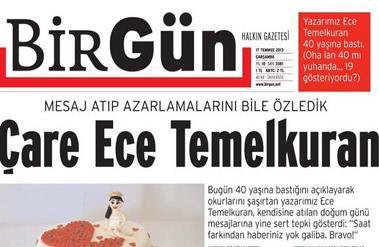 BirGünün Yeni Genel Yayın Yönetmeni Ece Temelkuran Gazetenin Satışlarını Nasıl Etkiledi? İşte Tirajlar