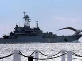 Boğazdaki Rus Savaş Gemisi Görüntüleri