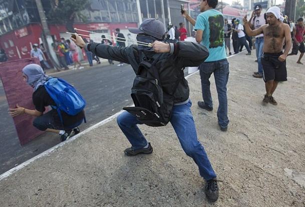 Brezilyada Göstericiler Polisle Çatıştı