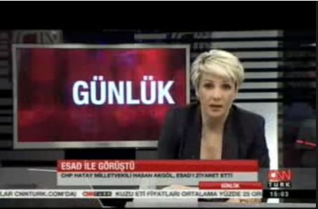 CNN Türk Spikeri Saynur Tezelden Rejiye Fırça