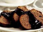 Çaylı Ve Çikolata Soslu Kek