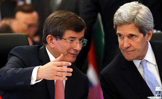 Davutoğlu Ve Kerry Telefonla Görüştü
