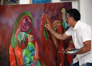 Doğunun Picassosundan Dünyada Bir İlk Çivi İle Tuval Üzerine Resim (Özel)