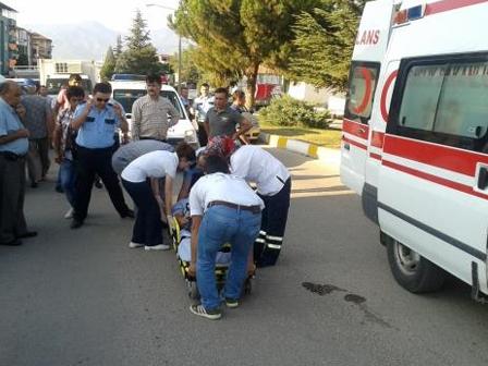 Erbaada Motosiklet Kazası 1 Yaralı