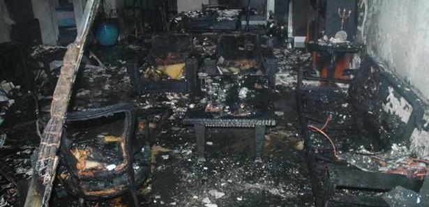 Fabrika Yangınında 60 Ton Malzeme Yandı