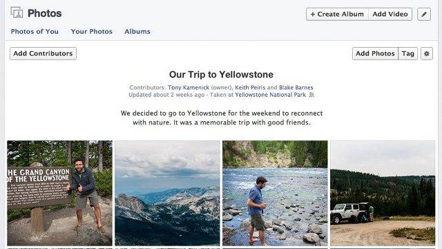 Facebooktan Paylaşımlı Fotoğraf Albümleri