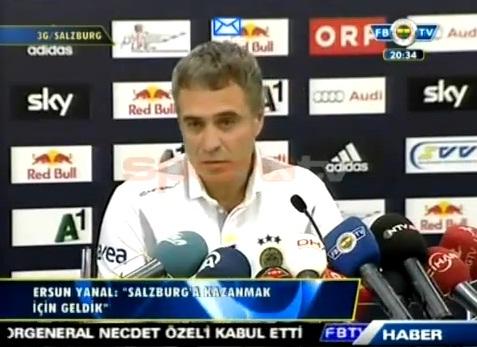 Fenerbahçe Salzburg Maçı Öncesi Ersun Yanal Açıklaması