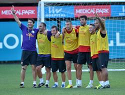 Galatasarayda Renkli Antrenman