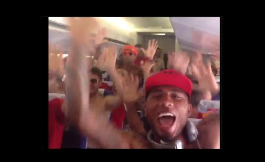 Galatasaraylı Futbolcular Uçakta Çıldırdı