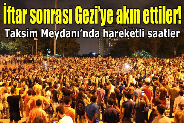 Göstericiler İftardan Sonra Gezi Parkına Akın Etti