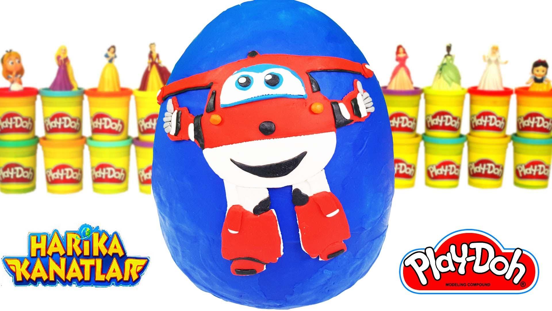 Harika Kanatlar Jett Dev Süpriz Yumurta ToyBox Play Doh Pinypon Jett Harika Kanatlar Oyun Hamuru