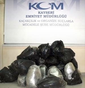 Kayseri Polisi 121 Kilo Esrar Ele Geçirdi