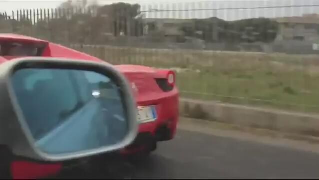Kaza Geçiren Ferrari Görüntüleri İzle