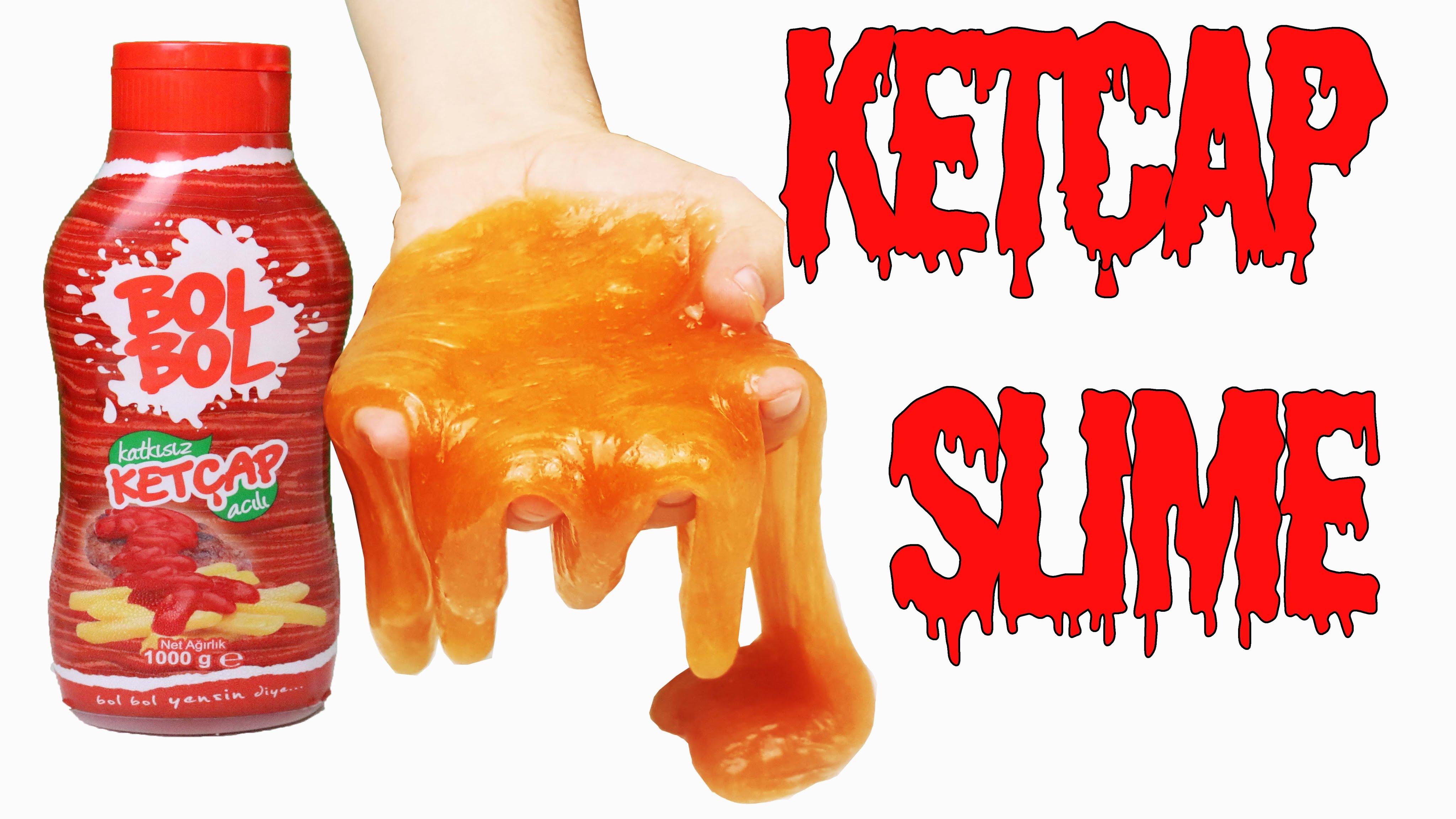 Ketçap Ile Slime Nasıl Yapılır Ketçaplı Slime Nasıl Yapılıyor
