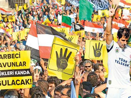 Mısırdaki Katliama Dört Dörtlük Protesto