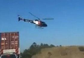 Polis Helikopterinden Şüpheliye Ateş Açıldı