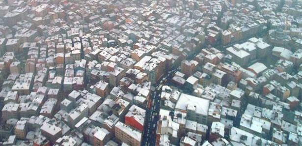 Sapphire Kulesinden İstanbulda Kar Görüntüleri