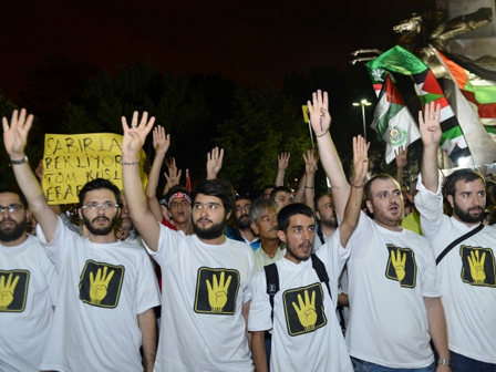 Saraçhane Parkında Mısır Eylemi