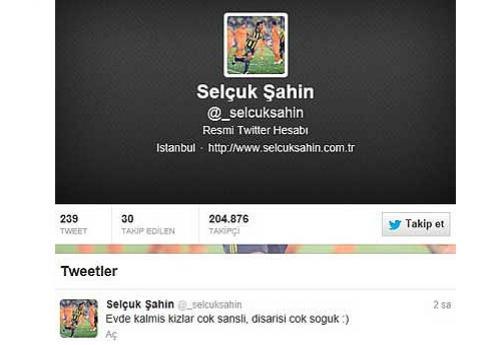Selçuk Şahinin Twitter Adresi